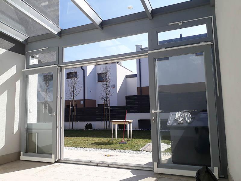 teraszbeépítés üvegtetővel